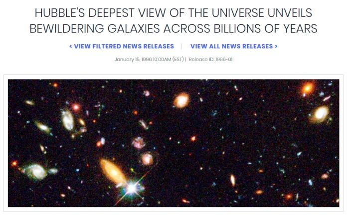 HST_HubbleDeepField_1500galaxias_2dias_1995